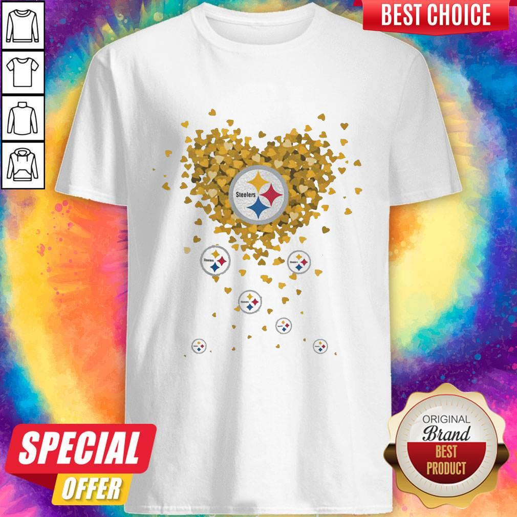 Love Pittsburgh Steelers Football Hearts Shirt