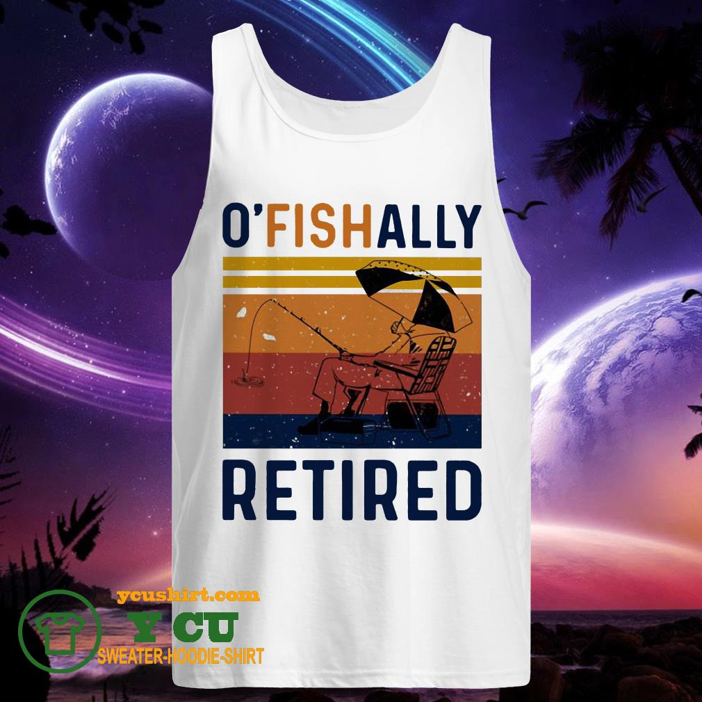 O' fish ally retired vintage tank top