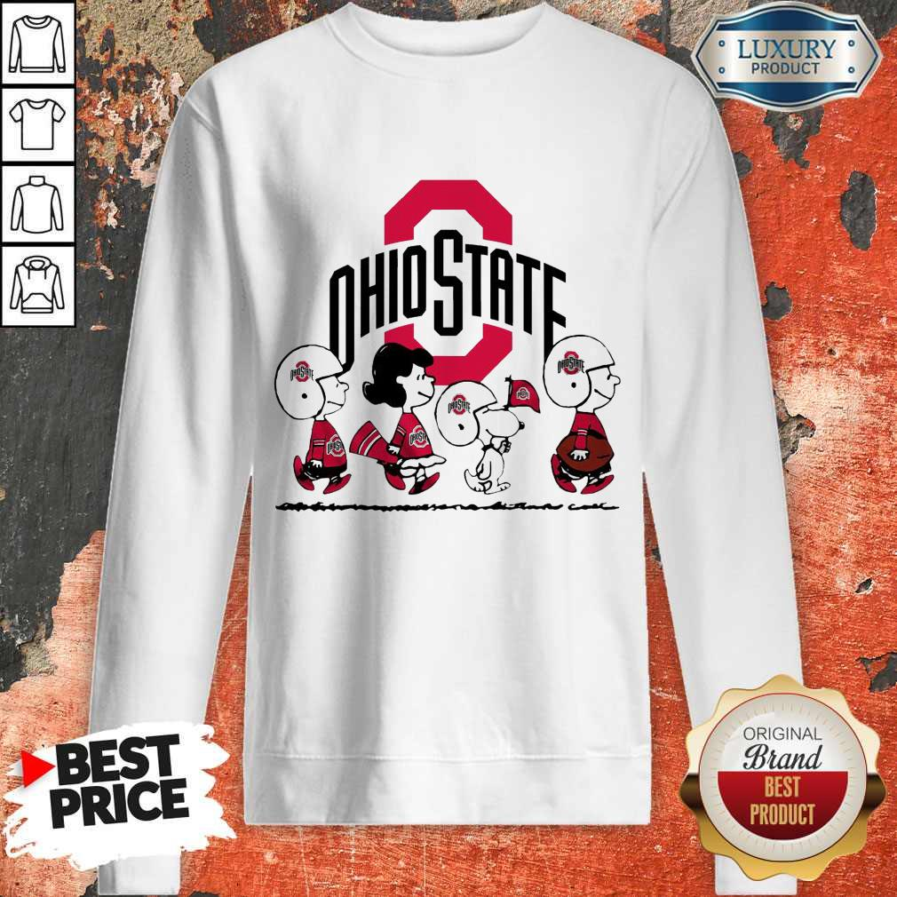 Snoopy The Peanuts Ohio State Buckeyes Sweatshirt
