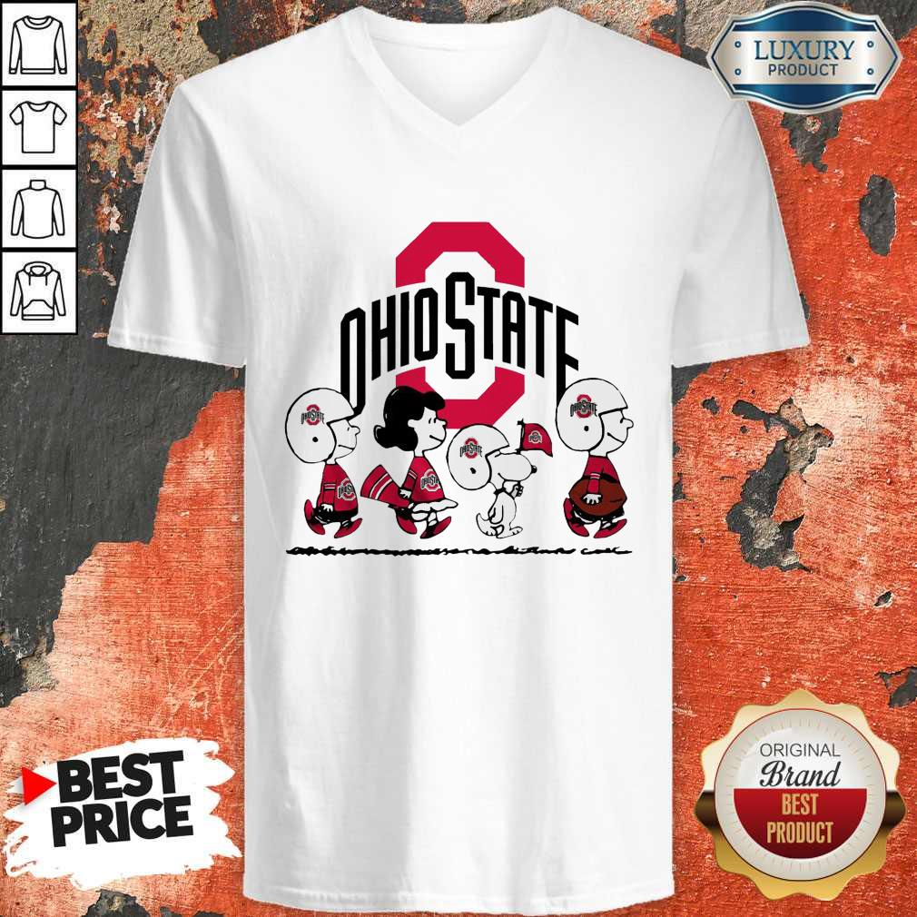 Snoopy The Peanuts Ohio State Buckeyes V-neck