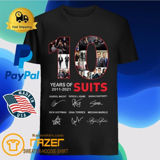 10 Years Of Suits Anniversary 2011 2020 Thank You For The Memories Signatures Shirt
