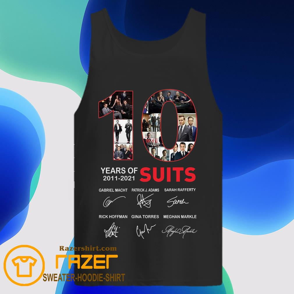 10 Years Of Suits Anniversary 2011 2020 Thank You For The Memories Signatures  Tank Top