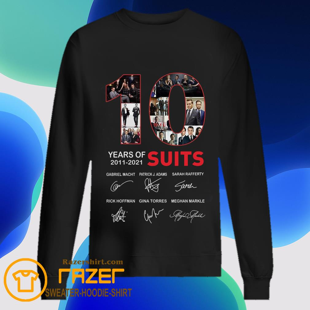 10 Years Of Suits Anniversary 2011 2020 Thank You For The Memories Signatures  Sweatshirt