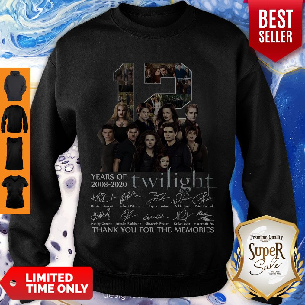 12 Years Of 2008 2020 Twilight Thank You For The Memories Signatures Sweatshirt
