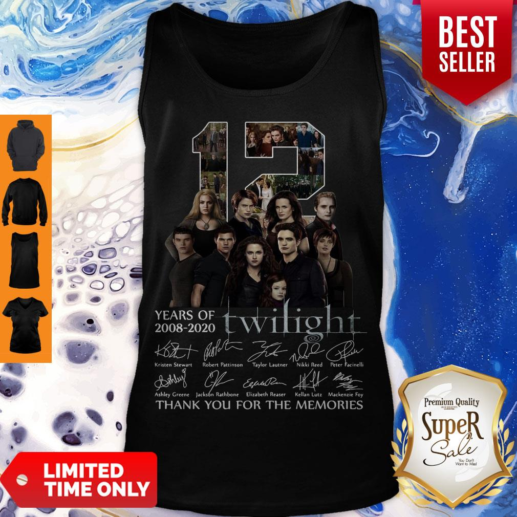 12 Years Of 2008 2020 Twilight Thank You For The Memories Signatures Tank Top