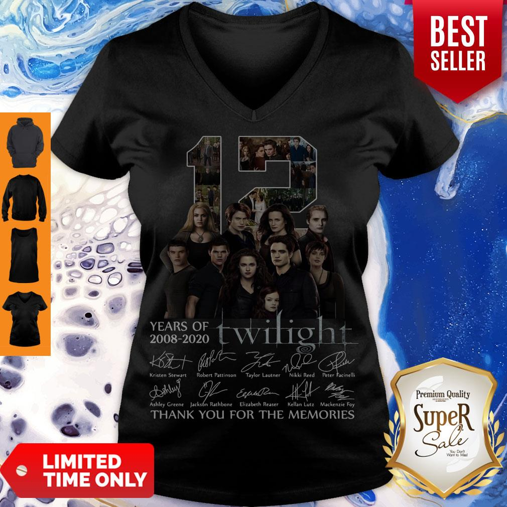 12 Years Of 2008 2020 Twilight Thank You For The Memories Signatures V-neck
