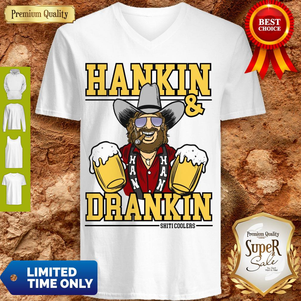 Awesome Hankin And Drankin Shiticoolers V-neck