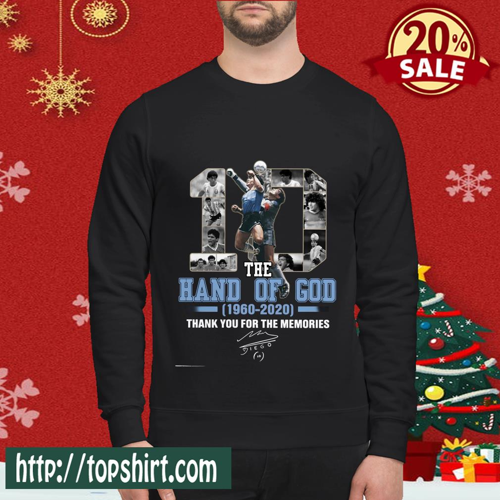 10 The Hand Of God 1960 2020 Thank For The Memories Classic Sweatshirt