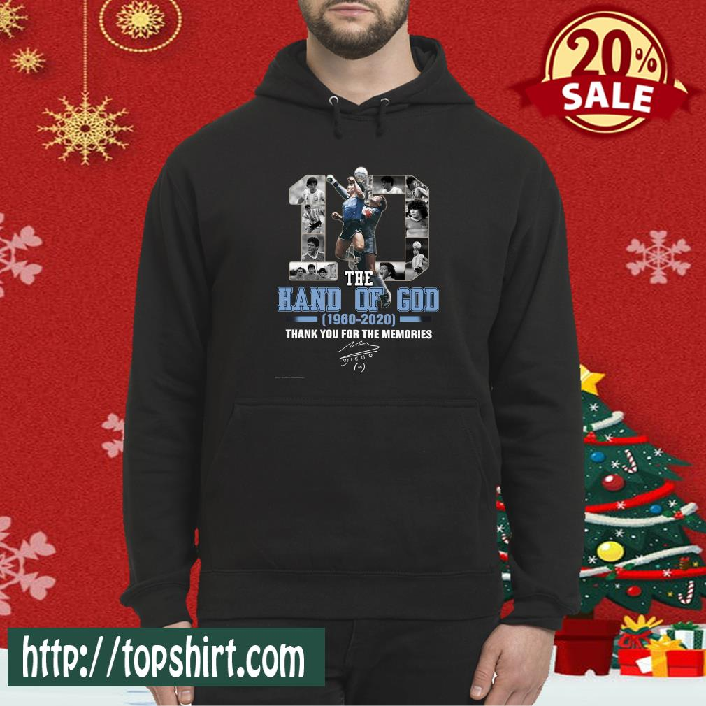 10 The Hand Of God 1960 2020 Thank For The Memories Classic Hoodie
