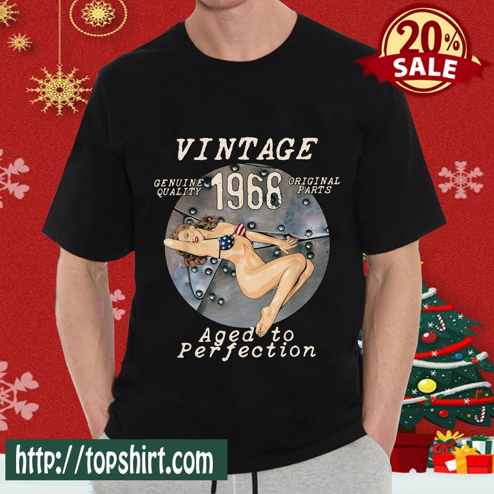 1968 Bomber Nose Art Hot Pinup 53rd Birthday Distressed T-Shirt